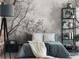 Schlafzimmer Deko Wald Setzen Sie Auf Stilvolles Naturmotiv In Schwarz Weiß