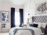 Schlafzimmer Einrichten Graues Bett Navy Gray White Inspiration