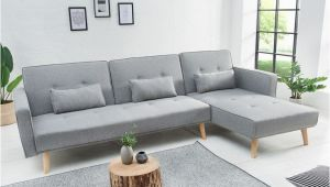 Sofa Design Types Modernes Ecksofa nordic 265cm Hellgrau Scandinavian Design