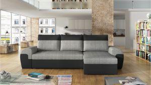 Sofa L form Stoff Ecksofa sofa Paros Mit Schlaffunktion Schwarz Hellgrau Ottomane Rechts