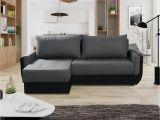 Sofa L form Stoff Ecksofa sofa Sania Mit Schlaffunktion Schwarz Grau Ottomane Links