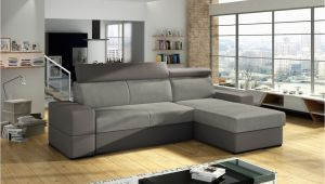 Sofa T form Ecksofa sofa Marios Mit Schlaffunktion Grau Ottomane Rechts