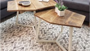 Sofa Tisch Stuhl Couchtisch Set 2 Stück Wohnzimmer Tisch Satztisch Paris Metall Gestell Schwarz Oder Weiß