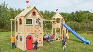Spielburg Garten Holz Spielhaus Im Garten – Modernes Kinderspielhaus Aus Holz