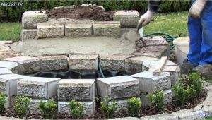 Steintisch Garten Bauen Kleine Wasserfall Im Garten Bauen Video 1
