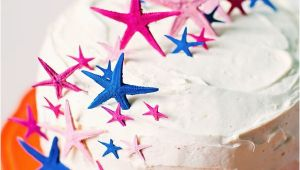Sterne Kuchen Painted Starfish Cake toppers