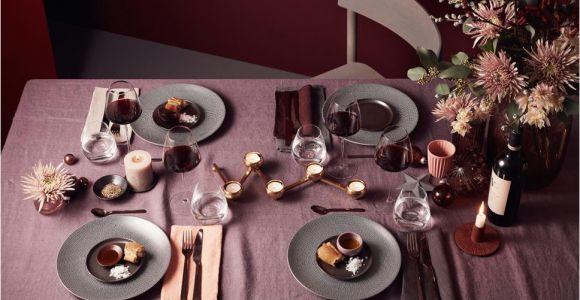 Tisch Eindecken Glas Oder softer Bordeaux Und Nudetöne Gesellen Sich Zu Grau