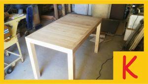 Tischgestell Küchentisch Youtube Ein Esstisch Selber Bauen Eiche 1 4 Tischgestell