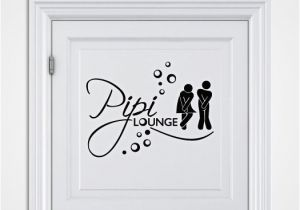 Toilette Gartenparty Wandtattoo Pipi Lounge Nr 2
