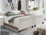 Weißes Bett 140×200 Roller Bett Weiß Leder