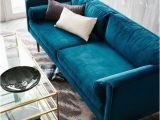 """Wohnzimmer Mit Blauem sofa Monroe Mid Century sofa 80"""""""