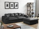 Wohnzimmer sofa Anthrazit Big sofa Megasofa Riesensofa arezzo Vintage Schwarz Inkl Hocker