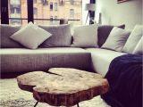 Wohnzimmer Tisch Hinter sofa Couchtisch Holztisch Massiv Auf Maß Baumscheibentisch